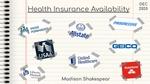 Health Insurance Availability by Madison Shakespear