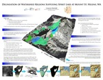 Delineation of Watershed Regions Supplying Spirit Lake at Mount St. Helens, WA