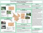 Proposed Educational Community Garden Locations in Tacoma, Washington